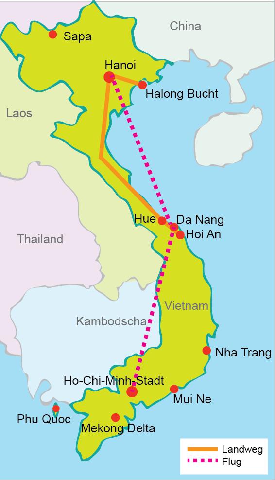Vietnam Rundreise 1 Woche