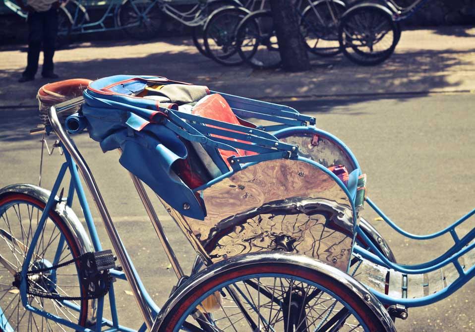 Cyclos, nicht nur für Touristen als Fortbewegungsmittel