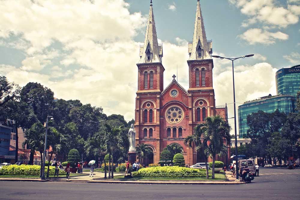 Die Kathedrale in Saigon