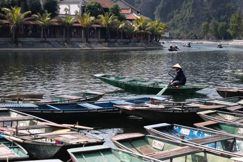 Trockene Halong Bucht Vietnam